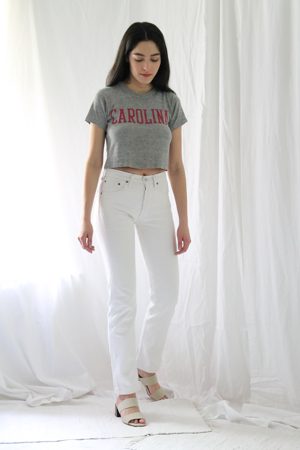 Duo Nyc Vintage Cropped Carolina Tee