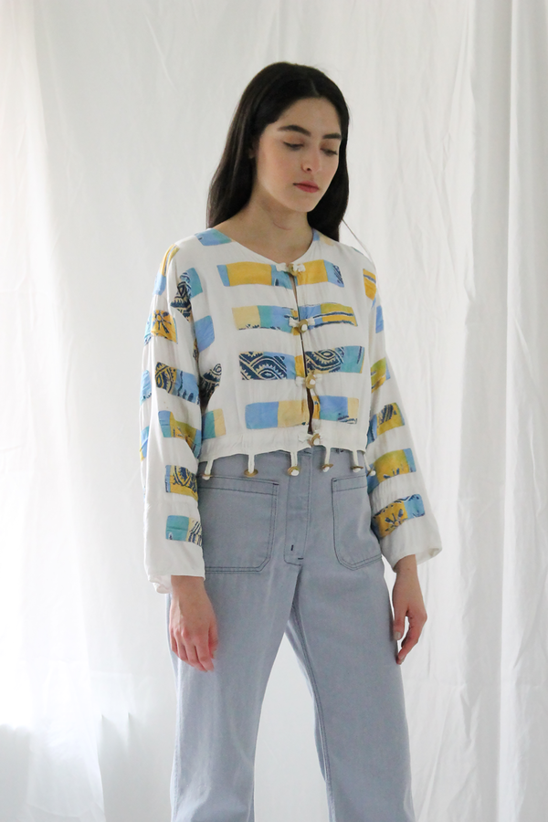 Duo Nyc Vintage Patchwork Crop Jacket