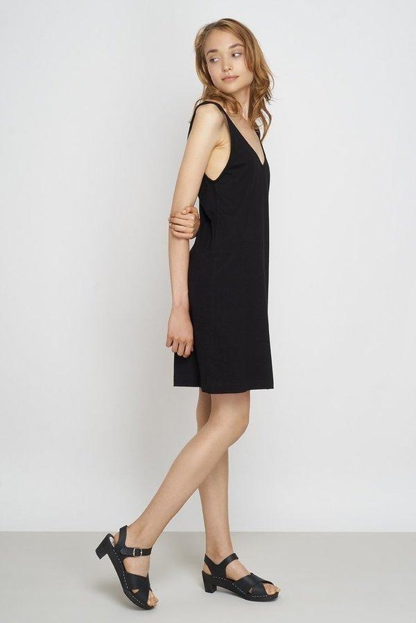 Jungle Folk Organic cotton tank dress keren black