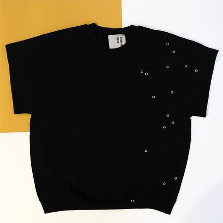 Slow and Steady Wins the Race Eyeleted T in Black