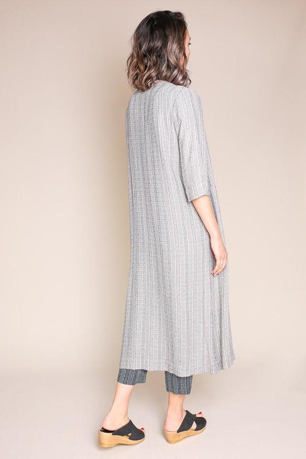 Raquel Allegra Duster Dress - Cream Stripe
