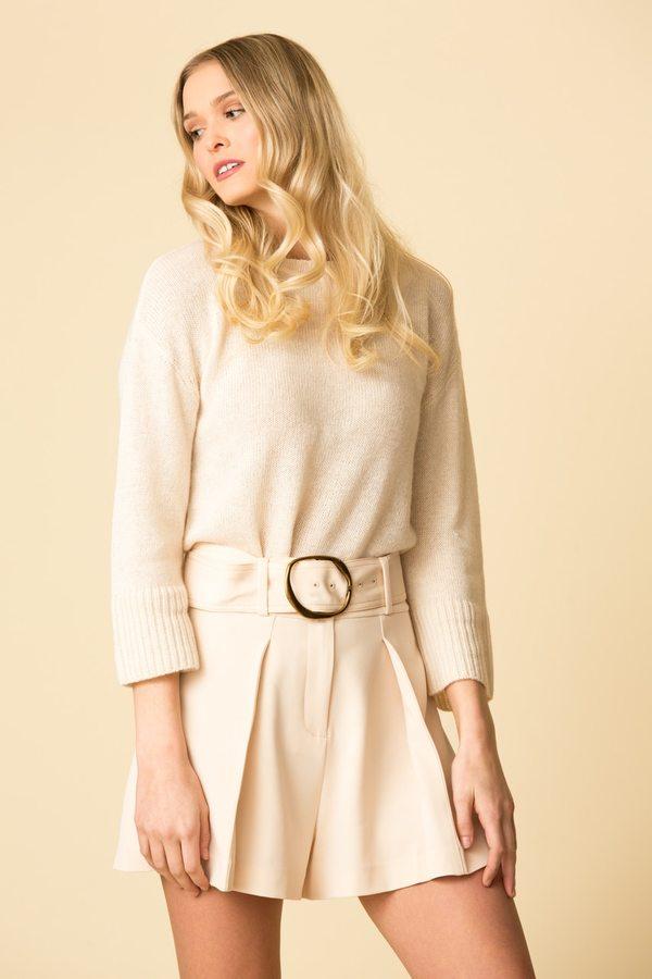 Derek Lam 10 Crosby Long Sleeve Sweater w/ Back Keyhole