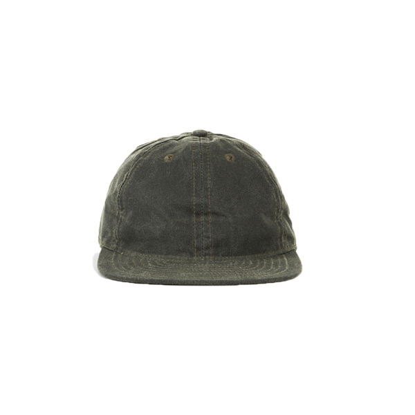 Waxed Cotton Ball Cap - Olive