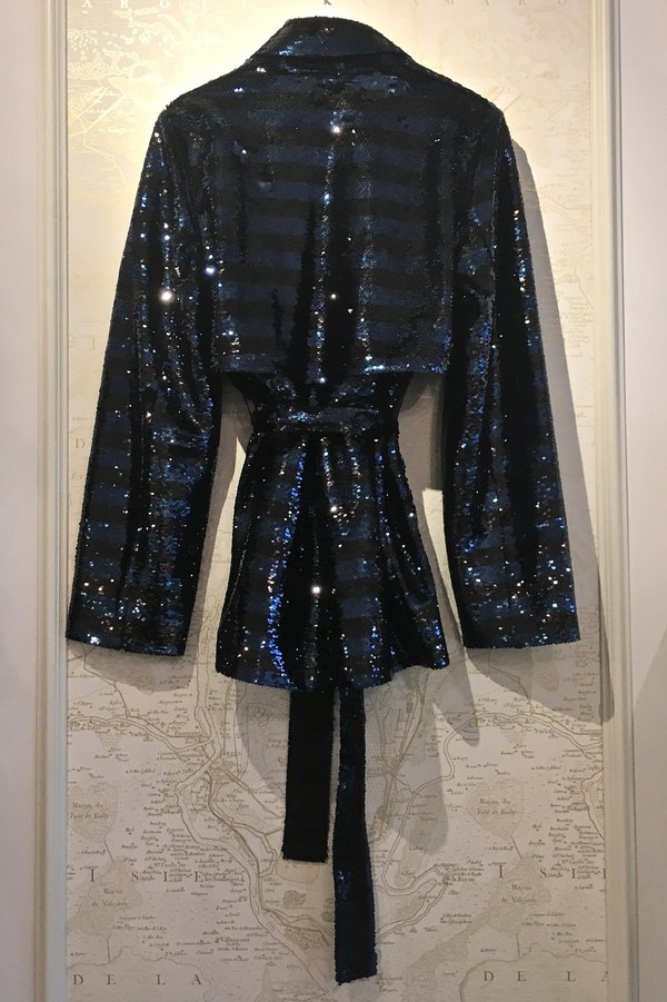 RtA 'Maxwell' Sequin Striped Trench