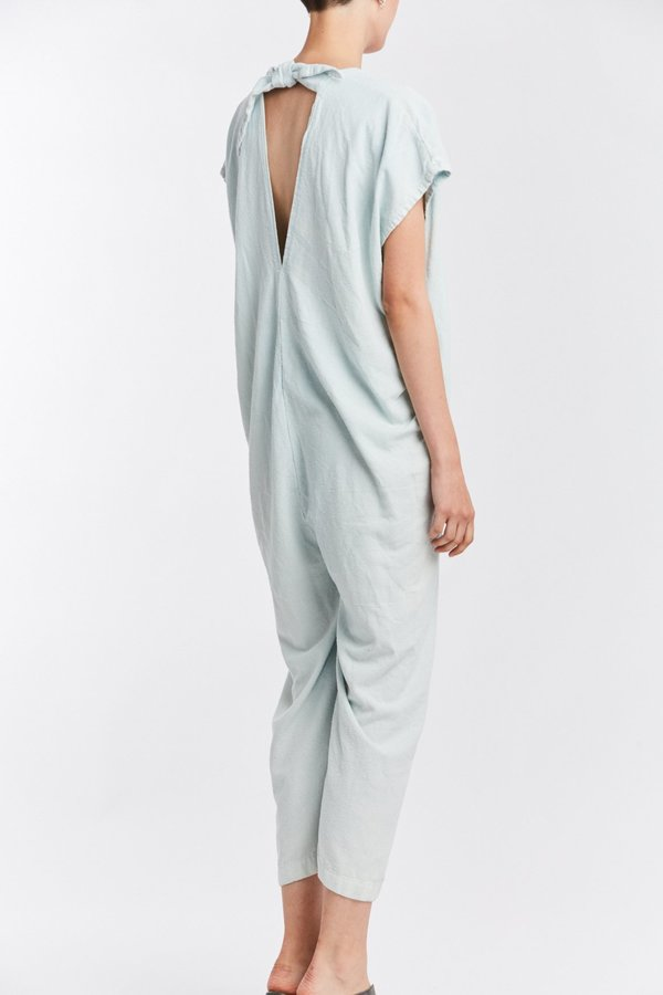 Studio Sale: Everyday Jumpsuit, Silk Noil in Light Indigo