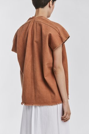 Studio Sale: Everyday Top, Denim in Earthen