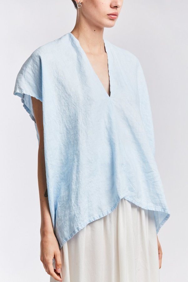 Studio Sale: Everyday Top, Linen in Light Indigo