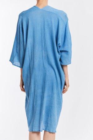 Studio Sale: Muse Dress, Cotton Gauze in Light Indigo