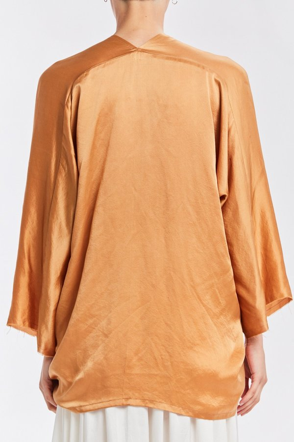 Studio Sale: Muse Top, Silk Charmeuse in Sand