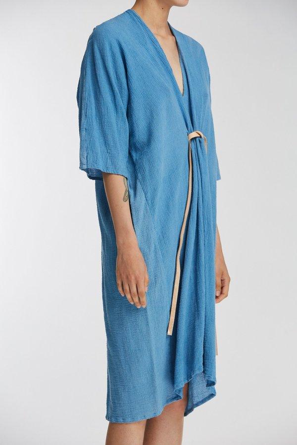Miranda Bennett Studio Sale: O'Keeffe Dress, Cotton Gauze in Light Indigo