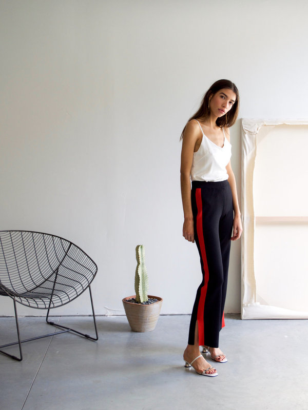 Just Female Track Pants - Black/Red