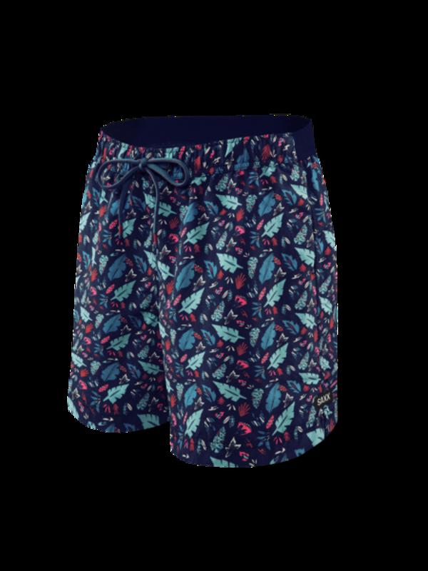 "SAXX CannonBall 7"" 2n1 Swim Trunks - Pop Flora Blue"