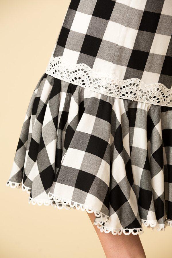 Marissa Webb Lou Buffalo Plaid Skirt
