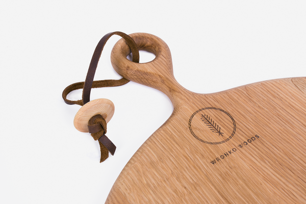 Wronko Woods Round Cutting Board - Oak