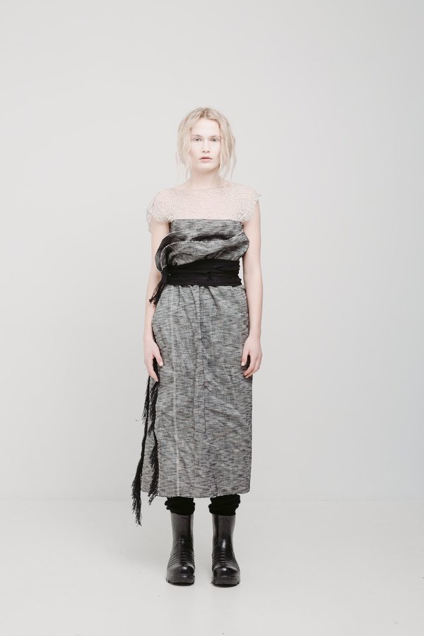 The Keep Store Duncan Hand Woven Wrap Dress - Marle
