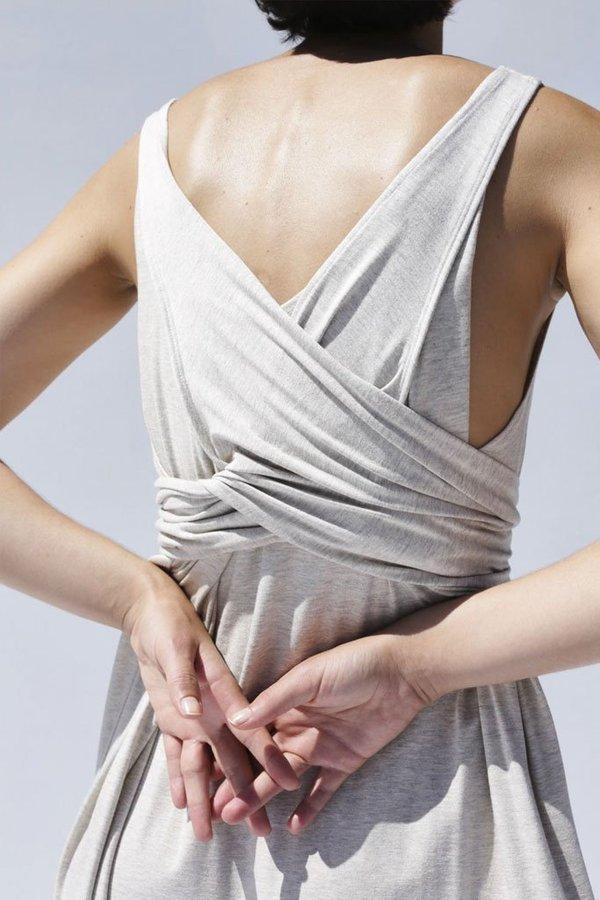Shaina Mote Tie Dress - Melange Dun