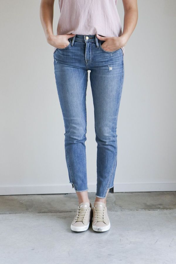 Frame Denim Le Boy Jeans with Gusset in Beaudry