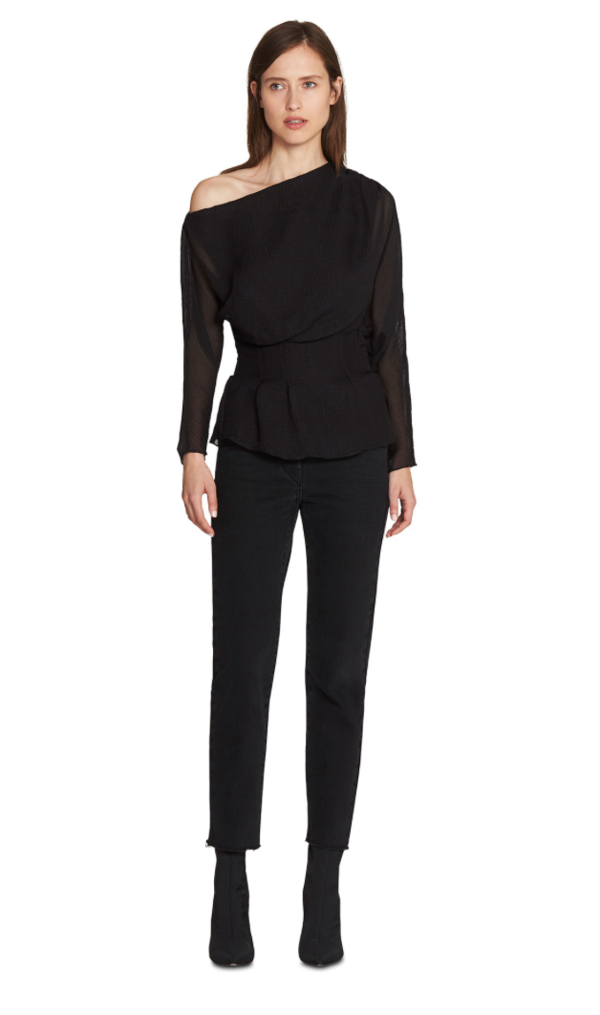 Camilla and Marc Garland One Shoulder Top - Black