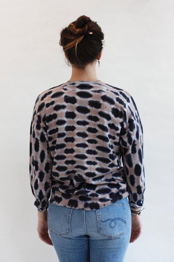 Raquel Allegra V-neck Tie Dye Sweater