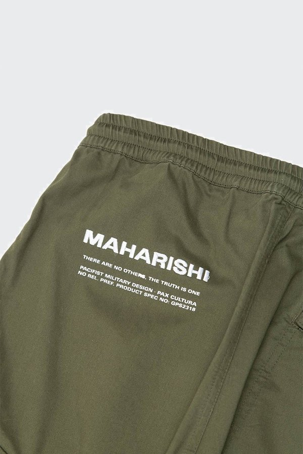 Maharishi Cargo Woven Track Pant - Mill Olive