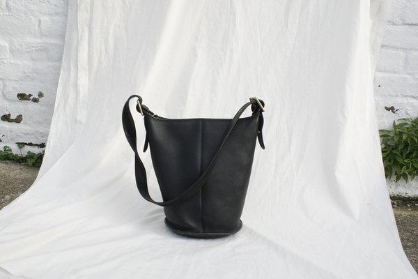 Vintage Black Coach Bucket Bag