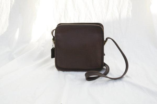 7a8df7dee Vintage Dark Brown Coach Square Bag | Garmentory