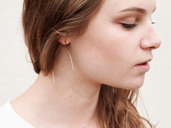 Minerva Gold Fill Hoop Earrings