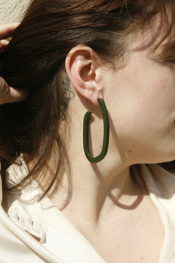 Machete  Margot Earring in Olive