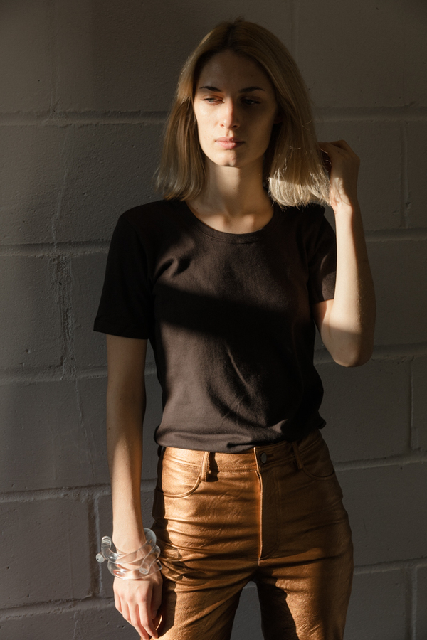 No.6 Bisset Scoop Neck T-Shirt - Black
