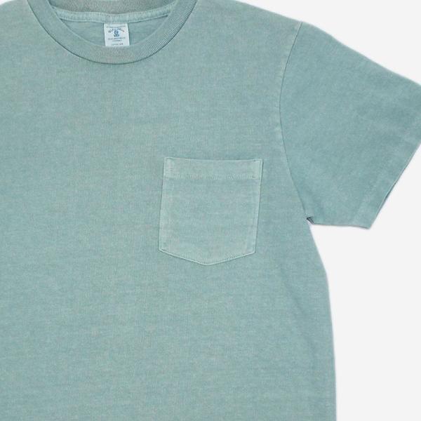 Velva Sheen Pigment Dyed Pocket T-Shirt - Haze Blue