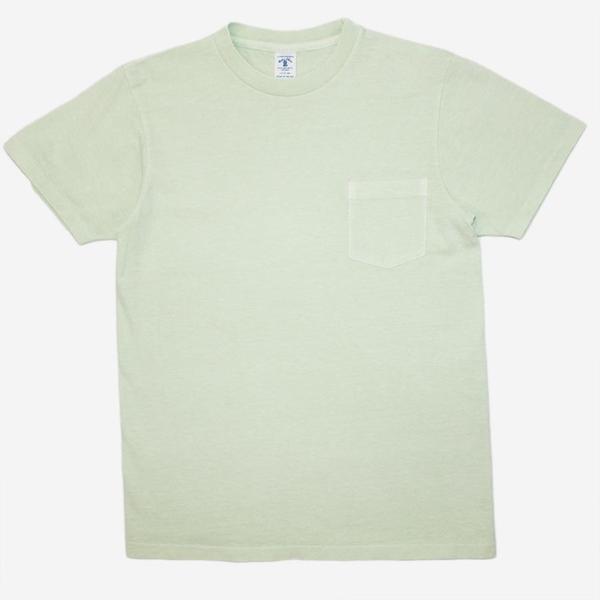 Velva Sheen Pigment Dyed Pocket T-Shirt - Light Green