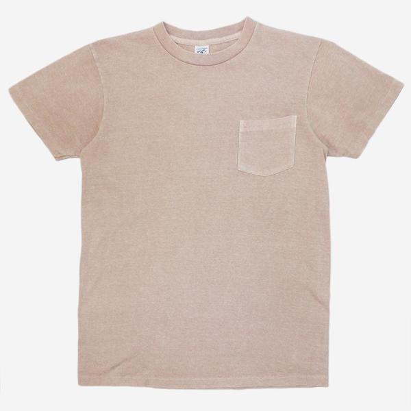 Velva Sheen Pigment Dyed Pocket T-Shirt - Light Pink