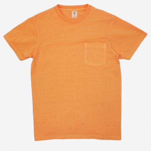Velva Sheen Pigment Dyed Pocket T-Shirt - Orange