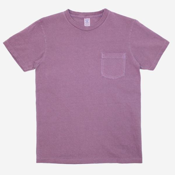 Velva Sheen Pigment Dyed Pocket T-Shirt - Purple