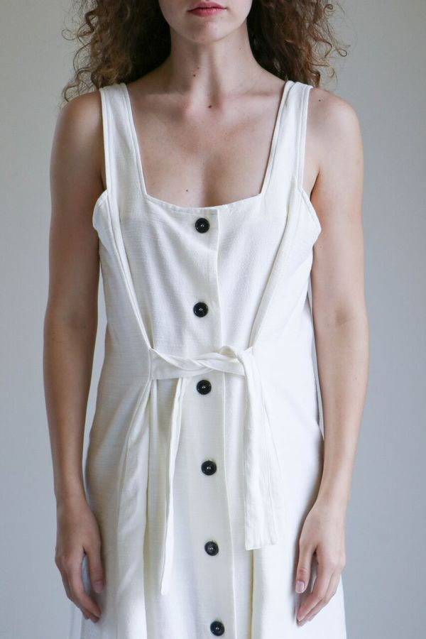 Revisited Lima Dress in Bone