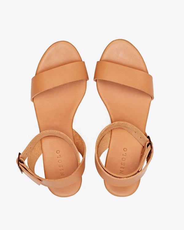 Nisolo Sarita Wedge Sandal - Tan