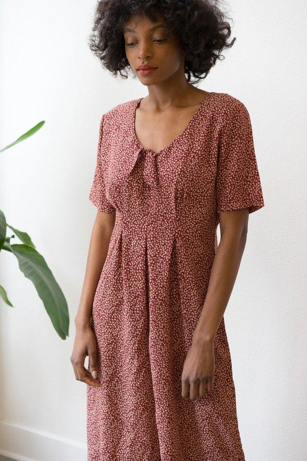 Backtalk PDX Vintage Red Floral Jumpsuit