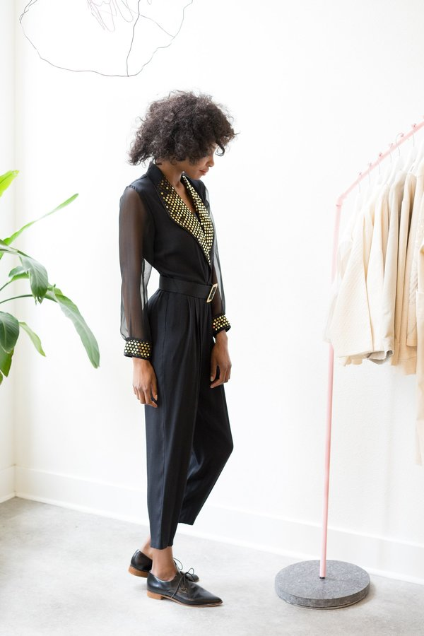 Backtalk PDX Vintage Sequin Jumpsuit