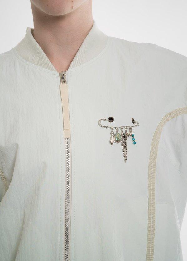 Hyein Seo Green Ribbon Bomber Jacket