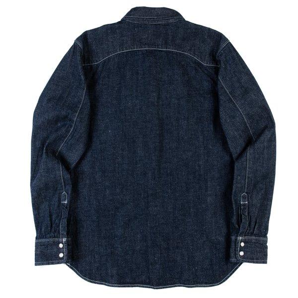 Freenote Cloth Modern Western Shirt - Rinsed Denim