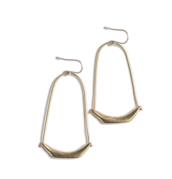 Uni Jewelry Pagoda Earrings Bronze On Garmentory