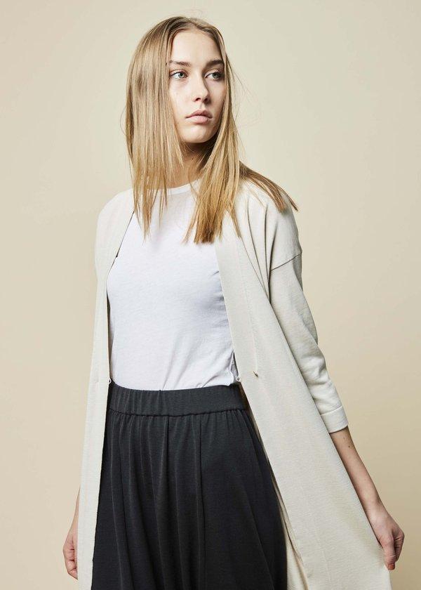 Evam Eva Silk Cotton Robe - Ecru  391d83e43