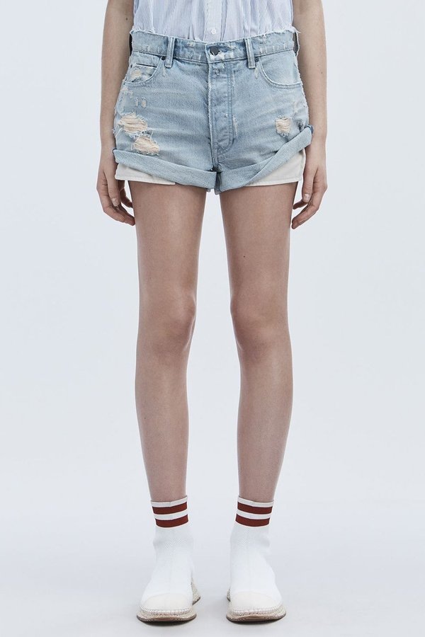 Inexpensive Sale Online rolled hem denim shorts - Blue Alexander Wang Sale Explore Cheap In China With Paypal Free Shipping Buy Cheap Fashionable w7DBo