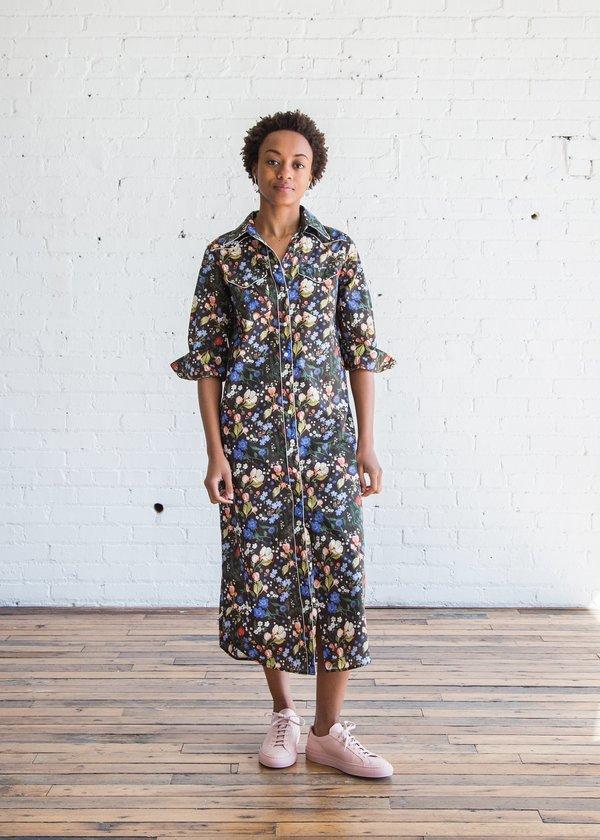 Garmentory Multicolorblack Floral Cowboy 34 R13 Dress Sleeve wOqYn86