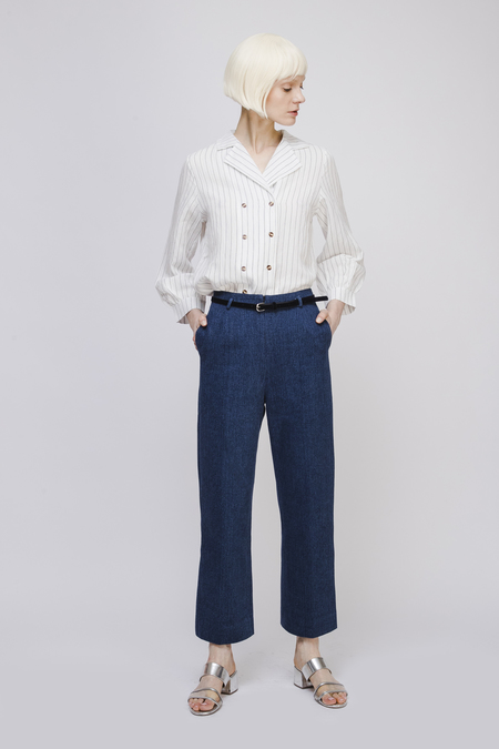 Opusion Straight Leg Jeans with Velvet Belt