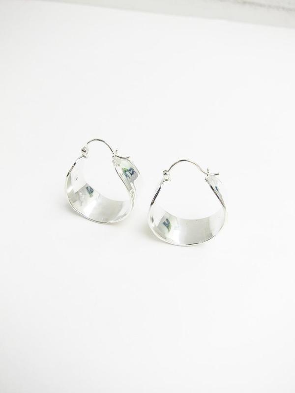 Leigh Miller Jewelry Wakame Silver Hoop Earrings gCfKbNg