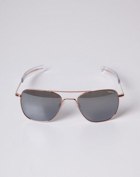 Randolph Engineering Aviator Sunglasses - Rose Gold