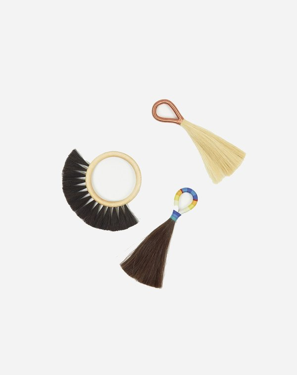 Fredericks & Mae Medium Wire Tassel - White/Copper