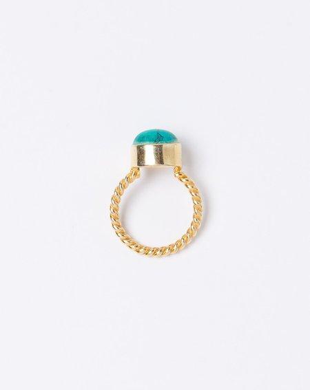 Ida James Twisted Giza Ring - Turquoise
