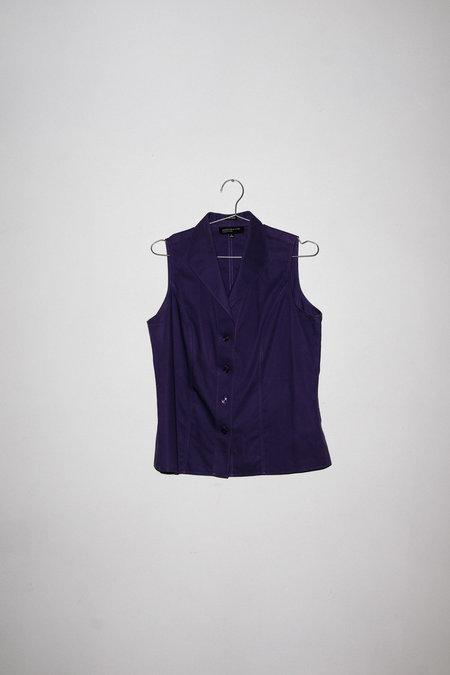 Vintage Button Up - Purple